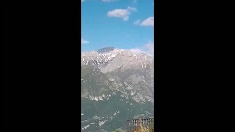 Monte Legnone visto dal colle del Ghisallo